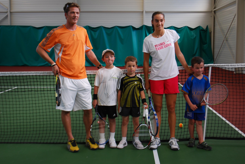 Caroline Garcia en visite au Comité de tennis Haut-Marnais